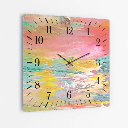 Excess Paint - Square Glass Clock